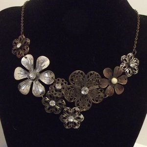 Chico's Necklace - Blackened Silver Mixed Metals